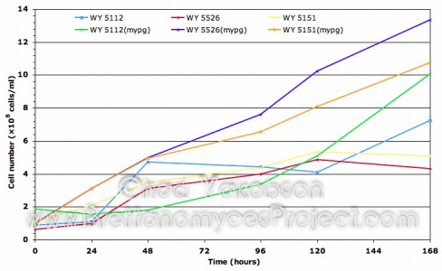Batch Culture Growth Curve Comparison of MYPG and Wort Substrate